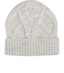 women's isabel marant ryamy cable stitch wool beanie - grey