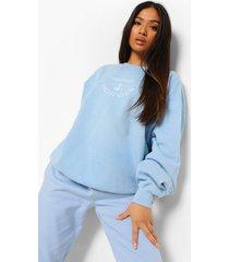 petite marseille sweater, light blue