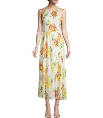 kobi halperin women's lana floral silk-blend halter dress - ivory multi - size m