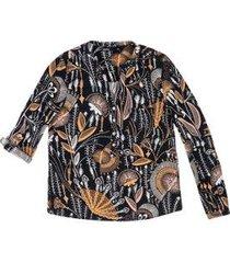 camisa hering tecido martingale feminina