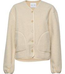 gerda jacket 12666 stickad tröja cardigan vit samsøe samsøe