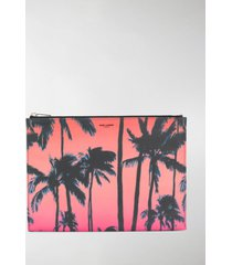 saint laurent palm tree print pouch