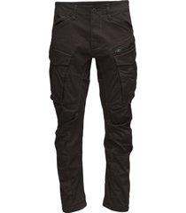 rovic zip 3d tapered casual broek vrijetijdsbroek bruin g-star raw