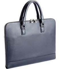 executive grained leather laptop briefcase