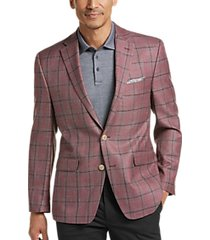 lauren by ralph lauren berry plaid classic fit sport coat
