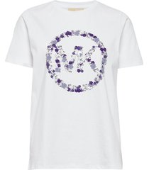 emb mk circle tee t-shirts & tops short-sleeved wit michael kors