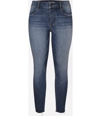 maurices womens denimflex™ high rise dark hidden button fly ankle jegging blue