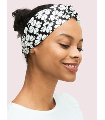 kate spade new york bicolor spade flower turban headband