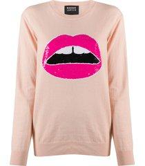 markus lupfer sequinned design sweatshirt - pink