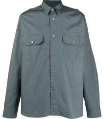 stella mccartney military shirt - grey