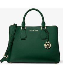 mk borsa a mano camille grande in pelle - muschio (verde) - michael kors