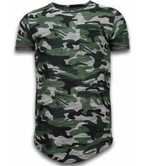 t-shirt korte mouw justing assorted camouflagelong fit camo chest pocket