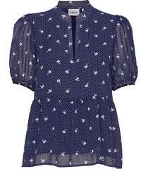 kailagz blouse hs20 blouses short-sleeved blauw gestuz