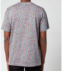 missoni men's stripe jersey crewneck t-shirt - blue - xl