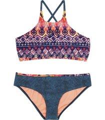 bikini high neck naranja h2o wear
