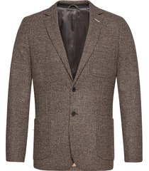 d2. slim tweed blazer blazer colbert grijs gant