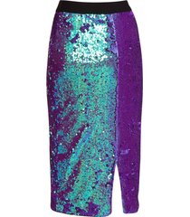 essentiel purple sequined pencil skirt