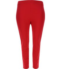 leggings unicolor cintura alta color rojo, talla 16