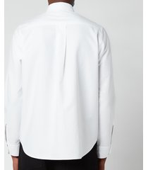 kenzo men's tiger crest oxford shirt - white - 44/18