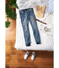 jeans skinny con applicazione intrecciata (blu) - rainbow