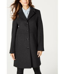 jones new york petite single-breasted notch-collar wool coat
