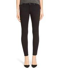 women's ag 'the legging' ankle super skinny jeans, size 24 - black
