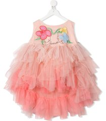 raspberry plum olia embroidered dress - pink