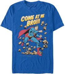 fifth sun dc men's superman come at me bro short sleeve t-shirt