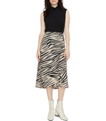 sanctuary everyday printed midi skirt