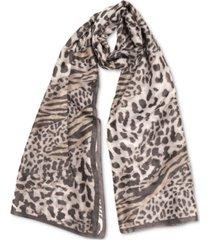 inc animal-print scarf, created for macy's