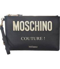 moschino couture! classic clutch