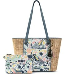 sakroots meadow medium tote with pouch