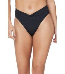 women's l space nancy lee bitsy bikini bottoms, size small - black