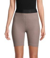alala women's primary ribbed bike shorts - splatter - size s