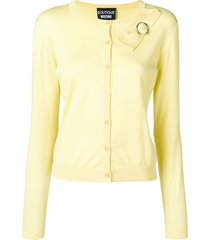 boutique moschino classic cardigan with bow detail - yellow