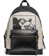 men's coach x disney keith haring glovetanned leather backpack - black
