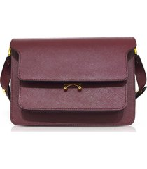 marni saffiano leather trunk shoulder bag