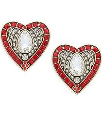 crystal & rhinestone hearts & arrows earrings