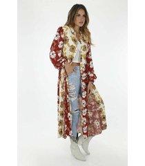 kimono para mujer tennis, estampado de flores 3 colores