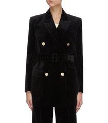 farrah' belted velvet blazer
