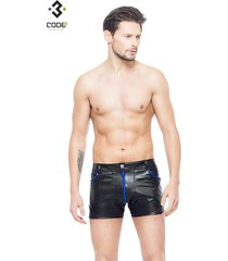* code8 by xxx collection heren short met mesh - blauw
