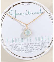 heartbreak stone pendant necklace - mint