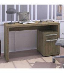 mesa escrivaninha home urban 1 porta 1 gaveta s970 nogal - kappesberg
