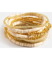 demi sequin bracelet set - natural