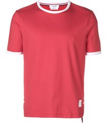 thom browne medium-weight jersey ringer tee - red