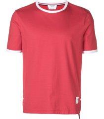 thom browne medium-weight jersey ringer tee - red
