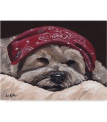 "hippie hound studios terrier bandana canvas art - 15"" x 20"""