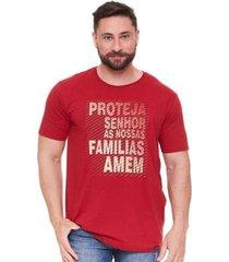 camiseta proteja senhor as nossas famílias amém ms5039 ágape masculina - masculino