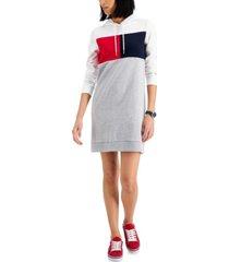 tommy hilfiger colorblocked sweatshirt dress