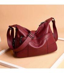 donna soft tracolla in pelle massiccia borsa spalla per il tempo libero borsa